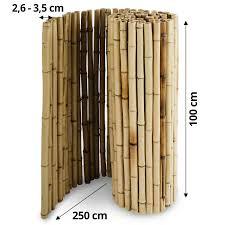 bambus sichtschutzzaun natur 3 größen volle bambusrohre