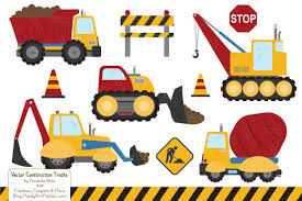 Crayon Box Boy Construction Trucks ~ Illustrations ~ Creative Market