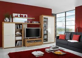 wohnwand wohnzimmer schrank tv hochglanz farbe vanille