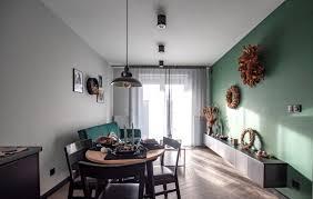 grüne wand im wohnzimmer ein wahrer eyecatcher