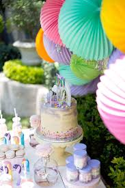 Cake Table From A My Little Pony Birthday Party On Karas Ideas