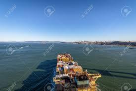 100 Shipping Containers San Francisco Container Cargo Ship Entering Bay