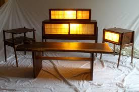 mid century modern furniture set in walnut finewoodworking