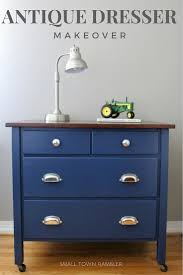 25 Lighters On My Dresser by Navy Blue Dresser With Wood Stained Top Dresser Room And Bedrooms
