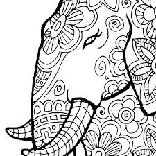 Mandala Coloring Pages Adults Animal Difficult Animals Cute Monkey Charming Free Elephant For