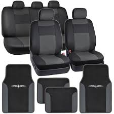 Cool Amazing Black & Charcoal Gray PU Leather Car Seat Covers W ... Leather Seat Covers Upholstery 2006 Dodge Ram 2500 8lug Magazine Ford Truck By Clazzio Bestfh Car Suv Pu Cushion Rear Bench Truck Seat Covers Lvo Fh4 Burgundyblack Eco Leather Front Bucket Black Man Tgx Tgs Redtoffee Fh Group Highback Textured For Sedan Van 5 Full Set Truck Leather Seat Covers Truckleather Luxury Supports Cover Microfiber
