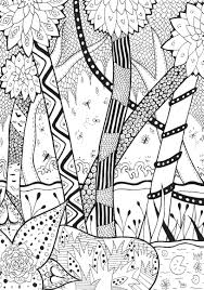 Coloring Page Adults Forest Rachel
