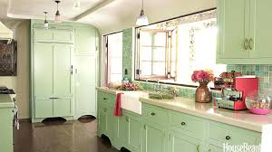 light green kitchen cabinets faced