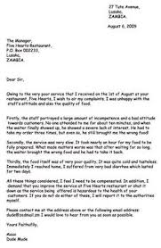 Customer plaint Response Letter Template