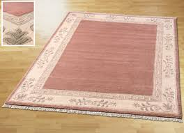 brücken und teppiche aus reiner schurwolle größe 185 140x200 cm rosé