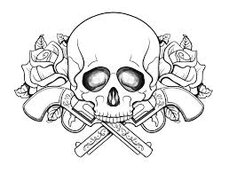 Print Sugar Skull With Skulls And Roses Coloring Pages 9