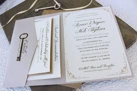 Vintage Key Wedding Invitations