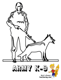 Army K 9 Coloring PageYou Can Print Out This