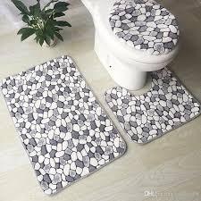 2x waschbare teppich set wc sitzbezug teppich badezimmer matte