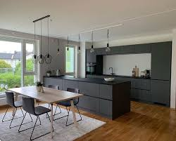 an absolutely stunning grey prato kitchen in the home