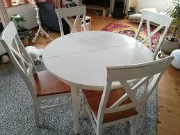 stuhl tisch ausziehbar esszimmer weiss shabby chic vintage