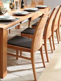 massivholz stuhl 49x53x95cm kernbuche geölt lederpolster braun esszimmer stühle