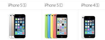 iPhone 5S Vs iPhone 4S Vs iPhone 5C Specs parison