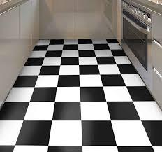 vinyl teppich küche schachbrett schwarz und weiß