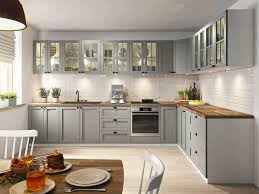 neue küche im landhaus stil grau mdf