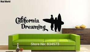 Diy California Room Decor Mad World Dreaming Silhouette Wall Art Stickers On