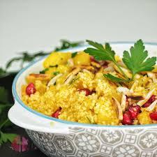 lauwarmer orientalisch angehauchter couscous salat