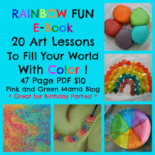 Pink And Green Mama Crafts Rainbow Fun Art Camp Lesson Plans EBook