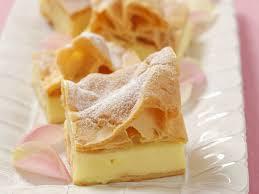 blätterteigkuchen mit vanillepudding auf polnische