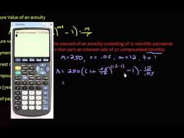 Sinking Fund Calculator Compounded Weekly by Annuity Future Value Monthly Savings Youtube