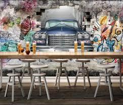 heimwerker graffiti wand 3d wallpaper moderne kreative handgemalt auto 3d wandbilder wohnzimmer schlafzimmer