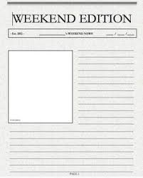 Weekend Writing News Template Front Page