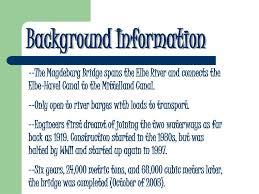 100 Magdeburg Water Bridge PPT PowerPoint Presentation Free