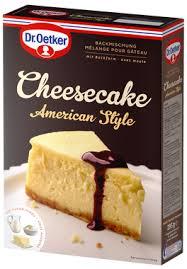 cheesecake american style kuchenmischungen dr oetker