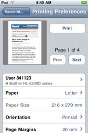 Printing from your iPhone iPod touch and iPad