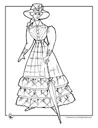 Victorian Dolls Coloring Pages Doll With Parasol Page Fantasy Jr This Could