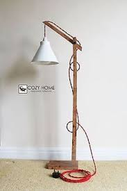 Curved Floor Lamp Ebay by Vintage Wooden Stand Lamp Floor Lamp Standing Floor Lamp Lights