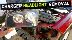 dodge charger headlight removal replacement 2005 2006 2007 2008