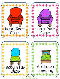 Goldilocks And The 3 Bears Word Cards For IKEA TOLSBY Frames