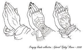 Praying Hands Tattoo Designs Coloring Page
