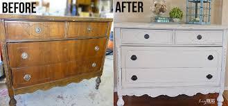 White Dresser Redo and Homemade Chalk Paint A Beginner s