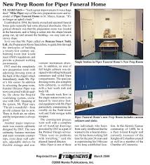New Prep Room for Piper Funeral Home