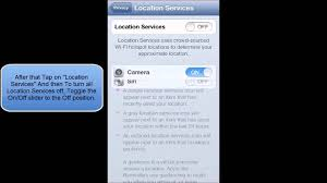 HOW TO ENABLE OR DISABLE LOCATION SERVICES IN IOS 6 IPHONE 5 IPOD