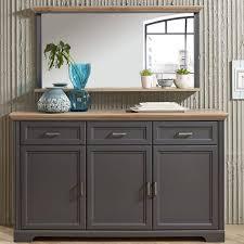 wohn und esszimmermöbel set jülich 36 in graphit grau und artisan eiche inkl beleuchtung