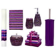 accessories foxy gray bathroom decor grey accessories purple