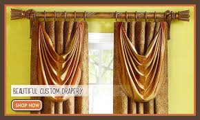 One Way Decorative Traverse Curtain Rods by Window Drapery Rods Curtain Valances Lindas Curtain Studio