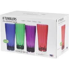 Bathroom Tumbler Used For by Creative Ware Diamond 28 Oz Tumblers Set 8pk Walmart Com