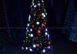 5ft Snowflake Pre Lit Led Fibre Optic Christmas Tree Decoration Inspiration Of