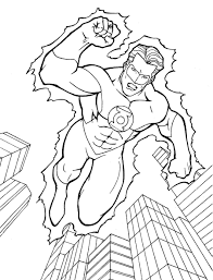 Green Lantern Coloring Page Book New Pages