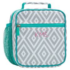 Gear Up Gray Preppy Diamond Classic Lunch Bag