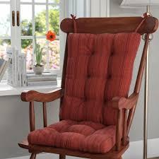 100 The Gripper Twill 2 Pc Rocking Chair Pad Set Universal Cushions Tyresc
